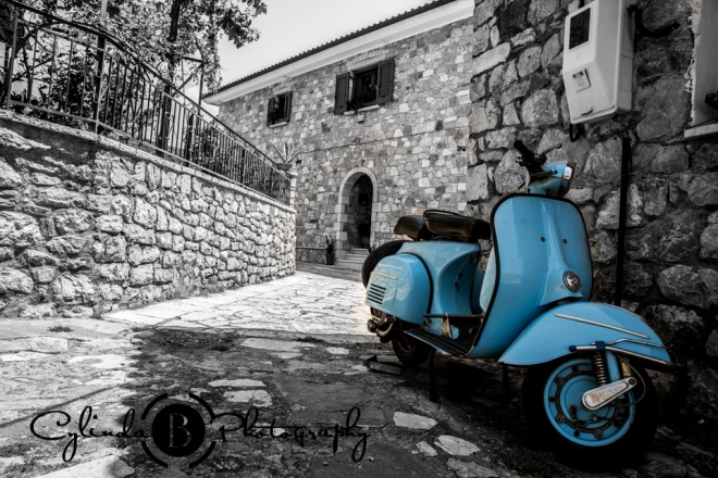 Nafpakos, greece, medieval town, castle, moped