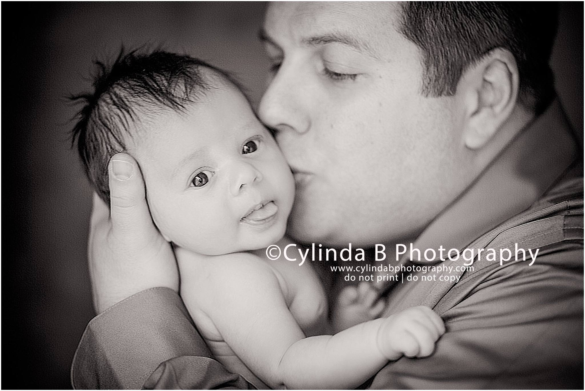 newborn photography, Syracuse NY, baby photo, one month old, baby boy, dad and son