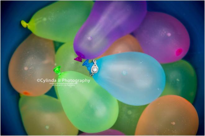 green lakes engagement, NY, water balloons, cylinda b photography