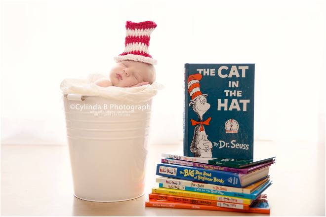 newborn, photography, photos, syracuse, ny, cylinda b photography, baby boy, the cat in the hat