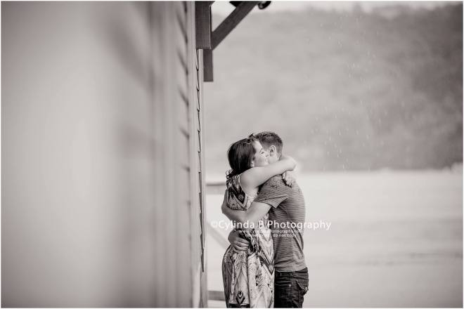 lourdes camp, rainy engagement, photos, photography, syracuse, cylinda b photography