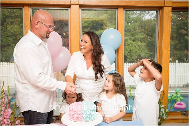 Gender Reveal, Cake, Family Portraits, Cylinda B Photography, Syracuse-17