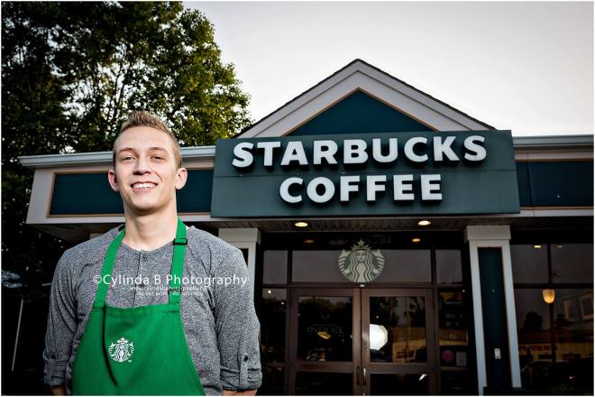 Starbucks, Senior portraits, Cylinda B Photography, boy-11