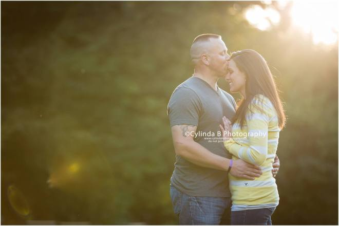 waterfall engagement, men in blue, engagement, syracuse, cylinda b photography, sun rays