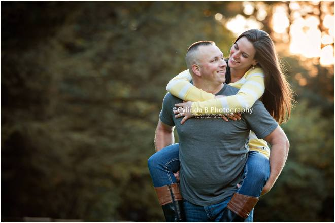waterfall engagement, men in blue, engagement, syracuse, cylinda b photography, playful engagement