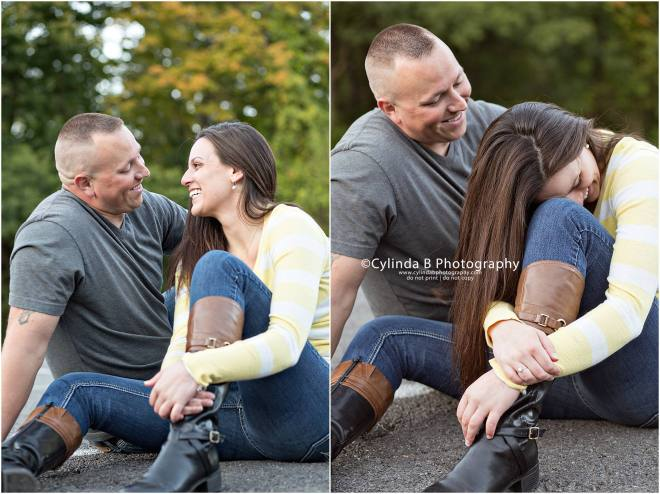 waterfall engagement, men in blue, engagement, syracuse, cylinda b photography