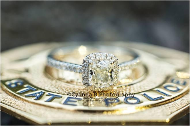 Fillmore Glen Engagement, waterfall engagement, engagement, syracuse, cylinda b photography, engagement ring, state police badge