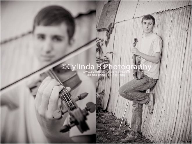 high school senior photography, guy, boy, cylinda B photography, violin-8
