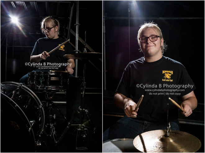 Syracuse Senior Portraits, Drummer, senior guy-1