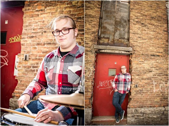 Syracuse Senior Portraits, Drummer, senior guy-3