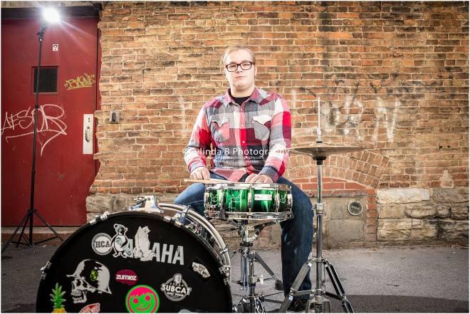Syracuse Senior Portraits, Drummer, senior guy-5