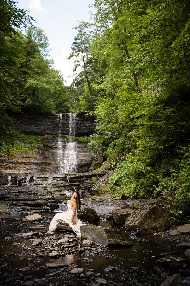 trash the dress, waterfall, carpenter falls, cylinda b photography-9