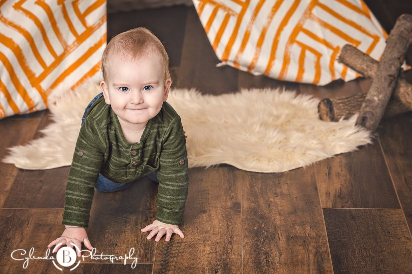 Baby Boy Cake Smash | Syracuse Child Photographer | Roman